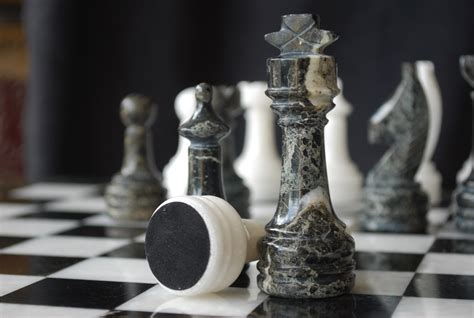 marble chess set chessbaron the zebra black zebra marble and wh