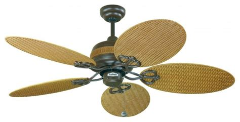 Wicker Ceiling Fans by Wicker Outdoor Fan 48 Quot Ceiling Fan Midcentury Ceiling