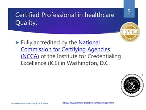 Certified Mba Number by Certified Professional In Healthcare Quality Quot Cphq Quot