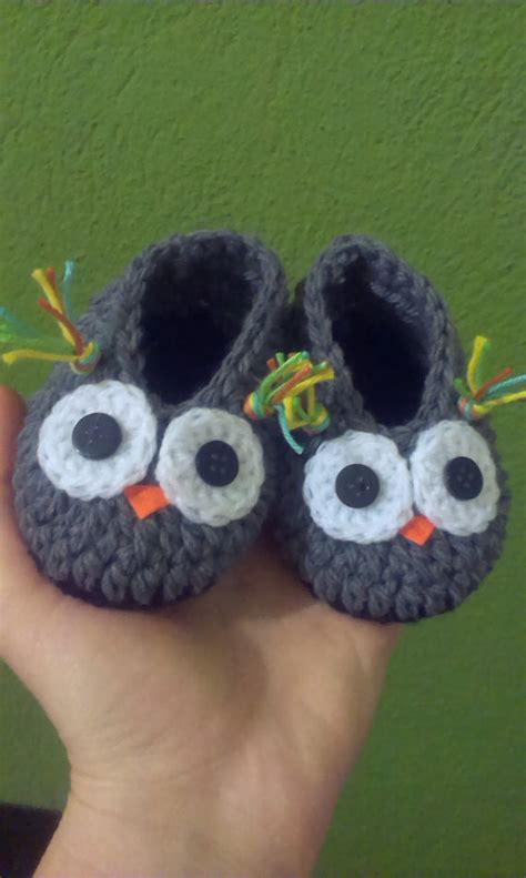 owl slippers items similar to crochet baby boy owl slippers on etsy