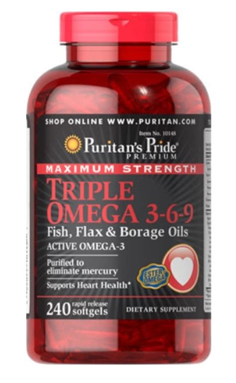 Puritan S Pride Maximum Strength Omega 3 6 9 2 Murah omega 3 6 9 240 softgels puritan s pride puritan pride