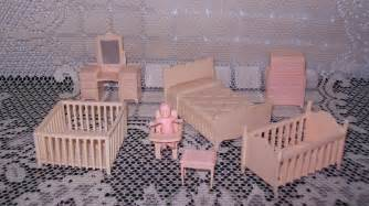 baby doll house 8pc vintage miniature pink tone plastic baby doll house furniture aud 34 90