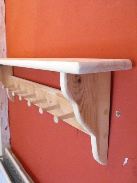 Wooden Coat Pegs With Shelf by Details About Wooden Coat Peg Rack Shaker Style With Shelf