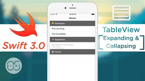 expandable tableview swift tableview expand collapse section swift 3 youtube