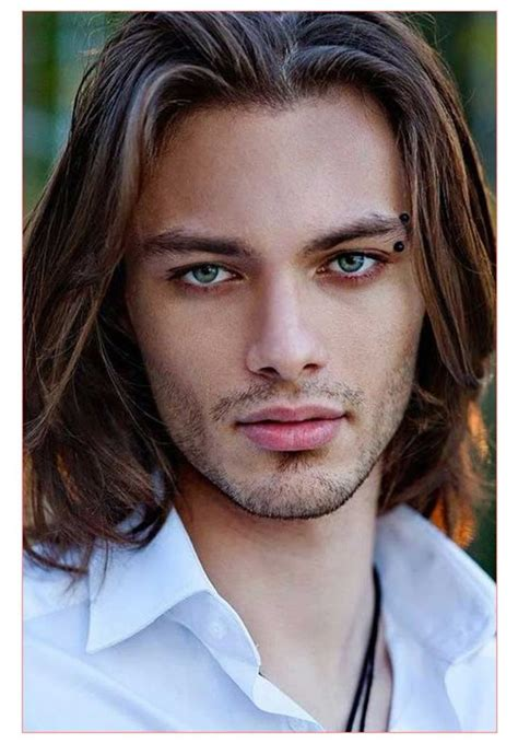 hairstyles for long hair men hairstyles for males with long hair or guy with dark brown
