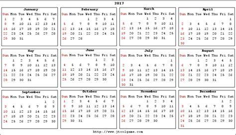 Small Calendar 2017 Calendar Printable Calendar 2017 Calendar In