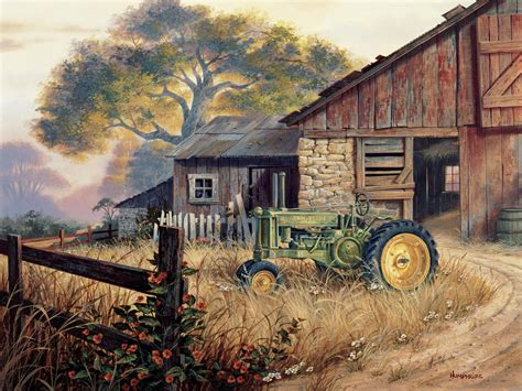 deere country by michael humphries - Country Paintings