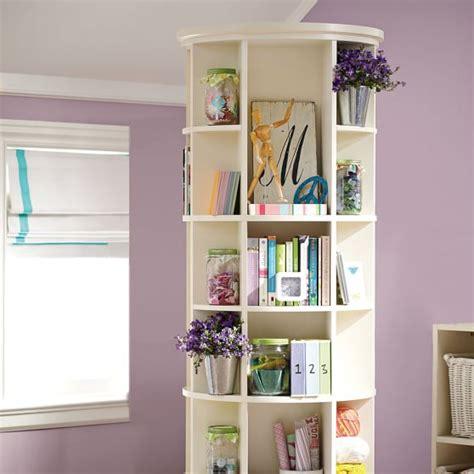 Revolving Bookcase Pbteen Rotating Bookshelves