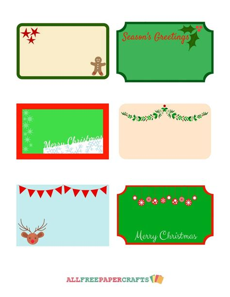 extra large printable christmas tags cute christmassy free printable labels