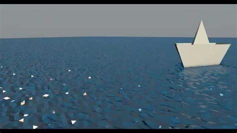 3d paper boat paper boat in low polygon water c4d 4k youtube