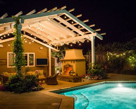 Backyard Patio Lights Home Design Ideas And Pictures Outdoor Hanging Lights Patio