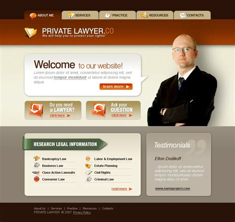 Lawyer Website Template 17040 Lawyer Web Templates