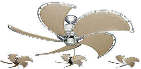 canvas blade ceiling fan 52 inch nautical raindance ceiling fan with khaki canvas