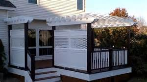 Free Trellis Plans quot deck builder quot one of a kind deck with custom privacy