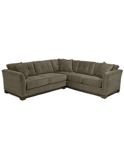 elliot fabric microfiber sectional sofa elliot fabric microfiber 2 piece sectional sofa created