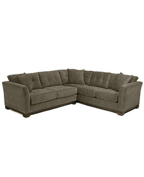 elliot fabric sectional elliot fabric microfiber 2 piece sectional sofa created