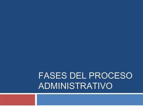 control administrativo fases v fases del proceso administrativo