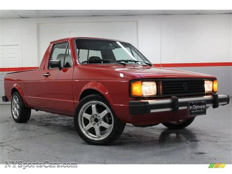 volkswagen rabbit pickup 1981 volkswagen rabbit pickup caddy in red 215751