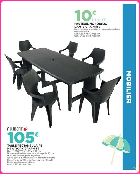 Table Jardin Geant Casino by Mobilier Exterieur Geant Casino