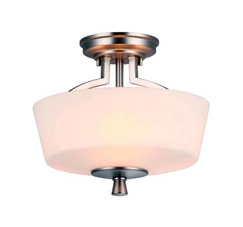 Dvi Lighting Fixtures Dvi Lighting Dvp7212bn Op Buffed Nickel With Half Opal Glass Georgetown Three Light Semi Flush