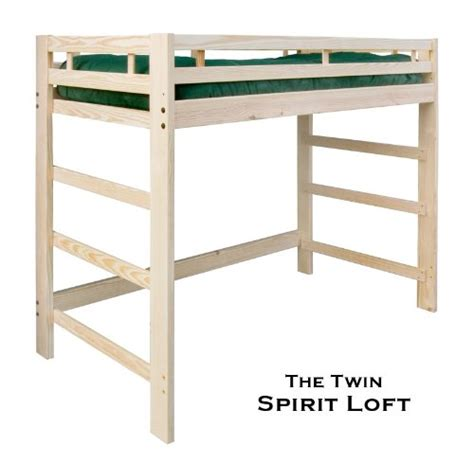 wood twin loft bed gt cheap twin spirit loft bed natural unfinished