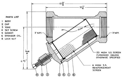 Y Strainer Drawing by Morrison Bros 285 Series 3 In Y Strainer Replacement