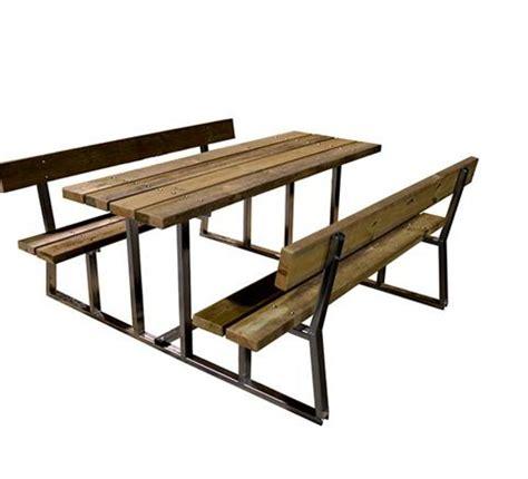 panche e tavoli in legno tavolo e panche relax versione da pic nic in metallo e