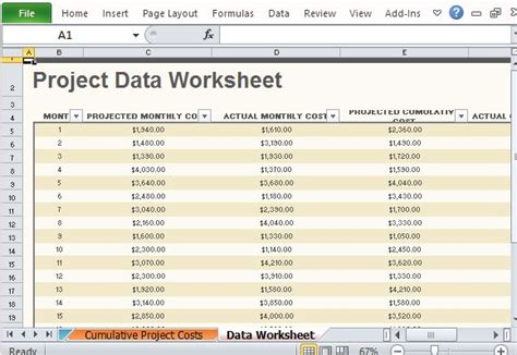 projected budget template excel free project budget template for excel 2013