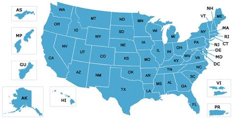 chip grantees map centers for medicare medicaid services