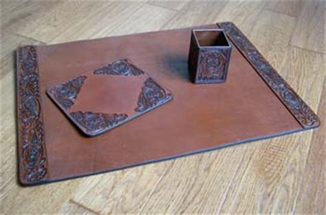 western desk accessories tooled leather desk set western style gifts free shipping