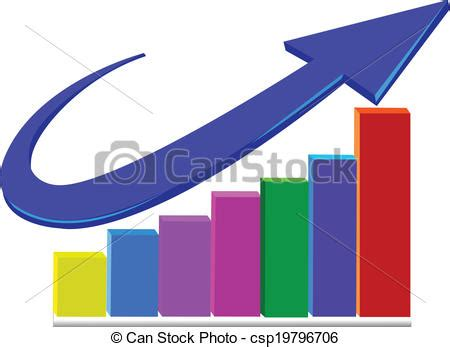 vector clipart of business statistics arrow logo