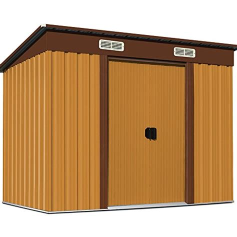 Metal Tool Shed by Tool Shed Metal Garden Foundation 18 215 108 Centimeter Brown