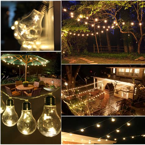 edison patio lights 10 edison bulbs warm white led string light garden