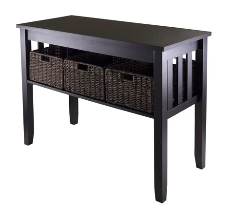 Hallway Table With Storage by Winsome Wood Morris Console Table By Oj Commerce 92452 148 73