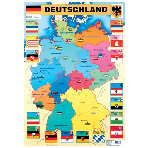 map of deutschland germany german map deutschland poster lp328