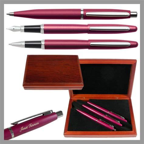 desk pen sets engraved sheaffer vfm red 3 piece executive engraved pen set the