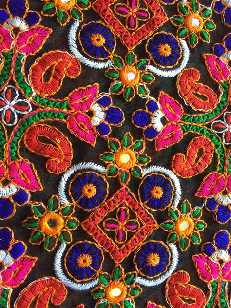 embroidered fabrics 1 yard kutch embroidery fabric indian embroidered fabric
