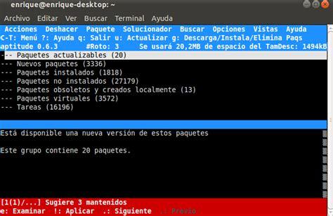 tutorial aptitude linux ubuntu y algo mas instalar aptitude