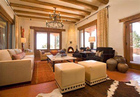 Living Room Bar Mexico Santa Fe Chic Mediterranean Living Room Other Metro