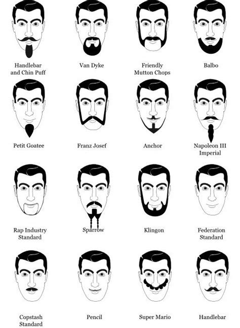 facial hair styles and their names trending