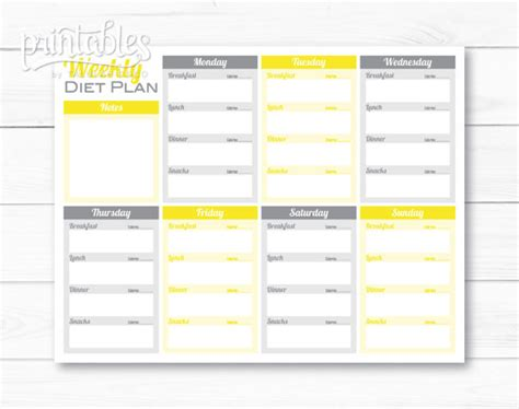 meal planner with calorie counter weekly diet planner