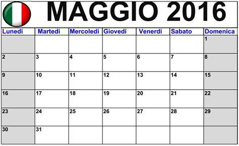 Calendario May 2016 da stampare   Italiano   2016 Blank