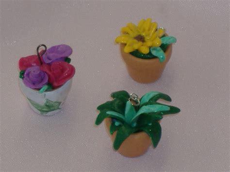 fiori con il fimo ciondoli vasetti fiori fimo bambini giocattoli di
