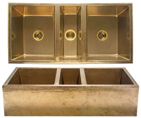 gold kitchen sink the modern sophisticate brass