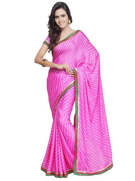Blouse Mosscrepe B4906f buy pink printed moss crepe saree with blouse