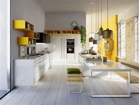 mensole cucina moderna best cucina moderna accento giallo mensola parete with