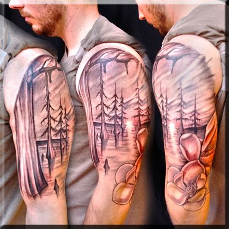 swamp scene tattoo by greg couvillier best beautiful