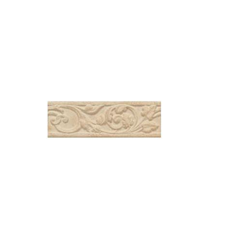 daltile carano floral sandstone 3 in x 10 in decorative