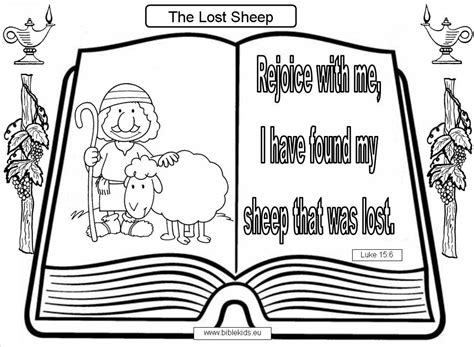 free bible coloring pages lost sheep the lost sheep verse