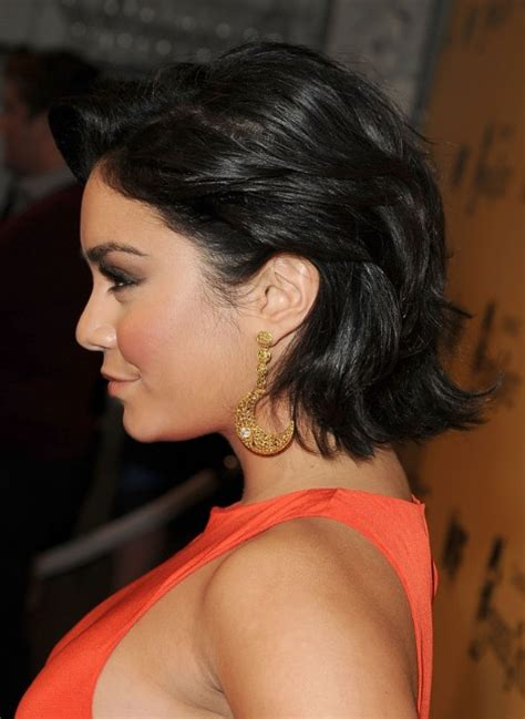 vanessa hudgens short curled  bob hairstyle